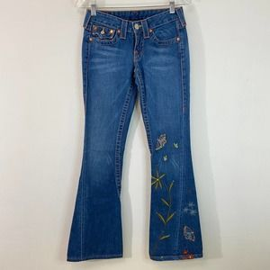 True Religion Joey Embroidered Butterflies